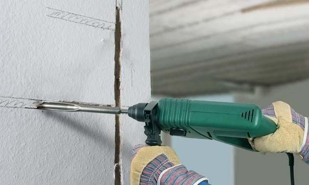 Как штробить стены под проводку перфоратором